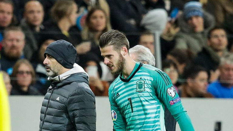 David de Gea suffered a groin injury in Spain's 1-1 draw with Sweden