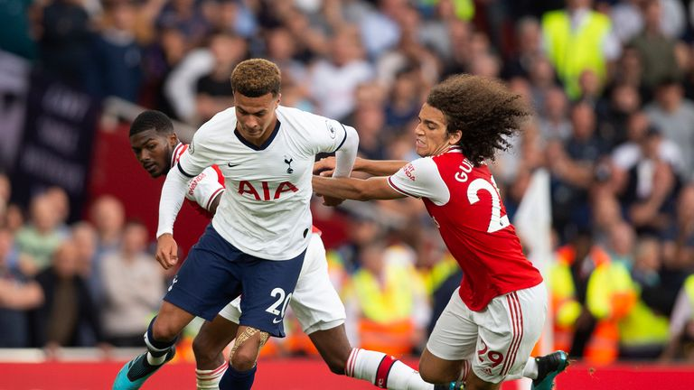 Dele in action against Arsenal earlier this season