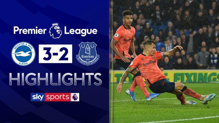 Brighton 3 2 Everton Match Report Highlights