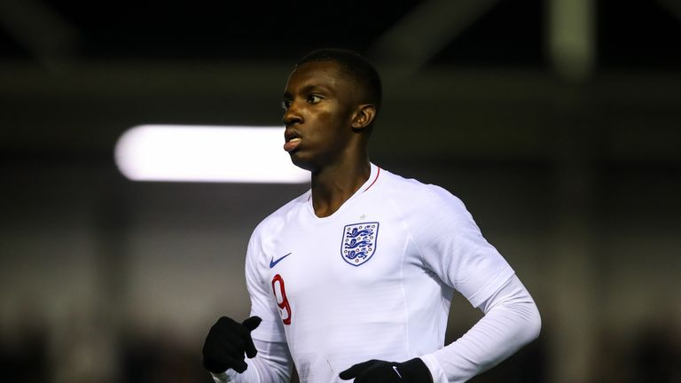 Eddie Nketiah scored the opener for England from the penalty spot in Slovenia