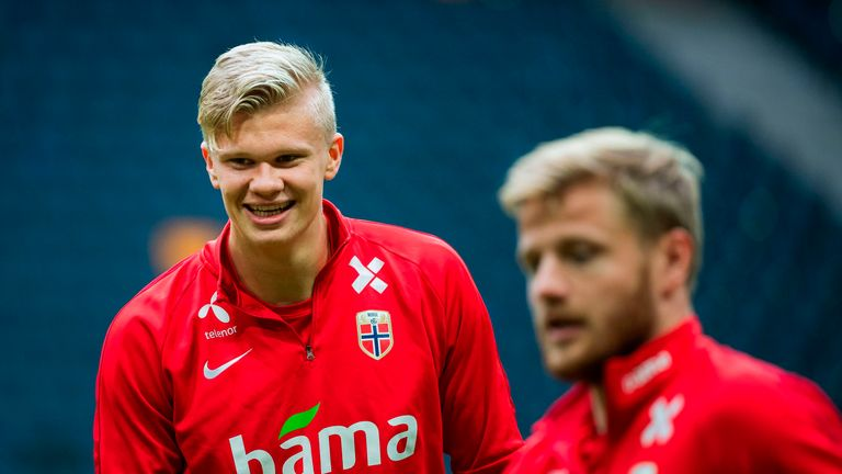 Erling Haaland has featured for Norway at every from U15s to seniors