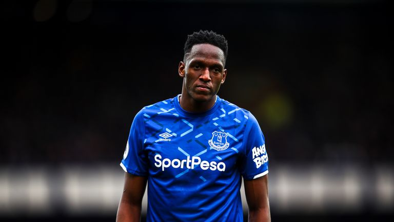 Yerry Mina is being assessed after sustaining an injury against Watford