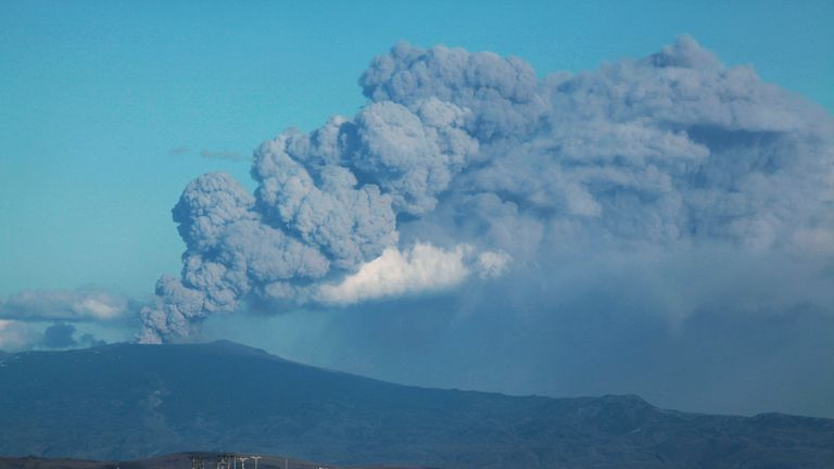 Eyjafjallajokull volcano, the eruption which prevented Robert Lewandowski signing for Blackburn
