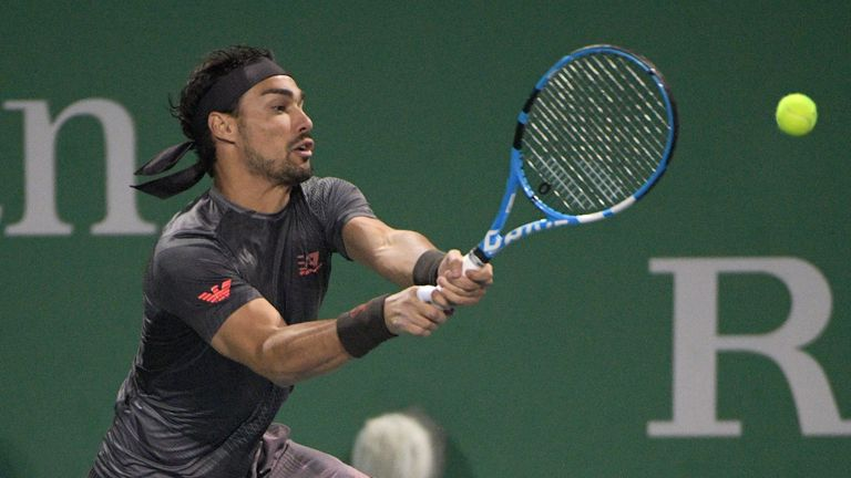 Fognini kept alive his hopes of a place at the ATP Finals in London