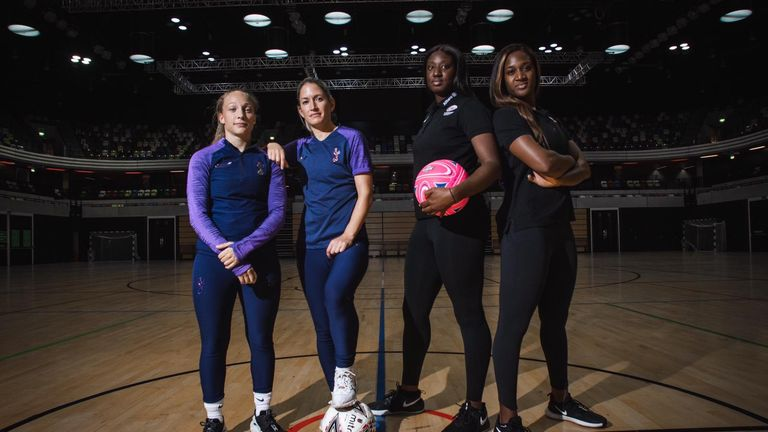 The Fast5 All-Stars Challenge was a netball versus football grudge match (Credit: Adam Southwell)