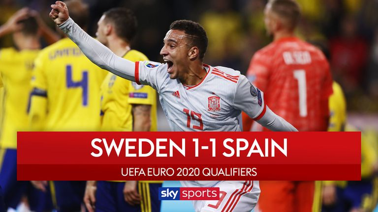 Highlights of the European Qualifying Group F match between Sweden and Spain.