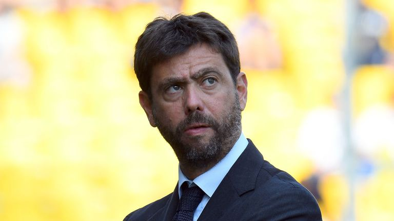 Juventus president Andrea Agnelli is in favour of a three-tier European competition featuring 96 clubs