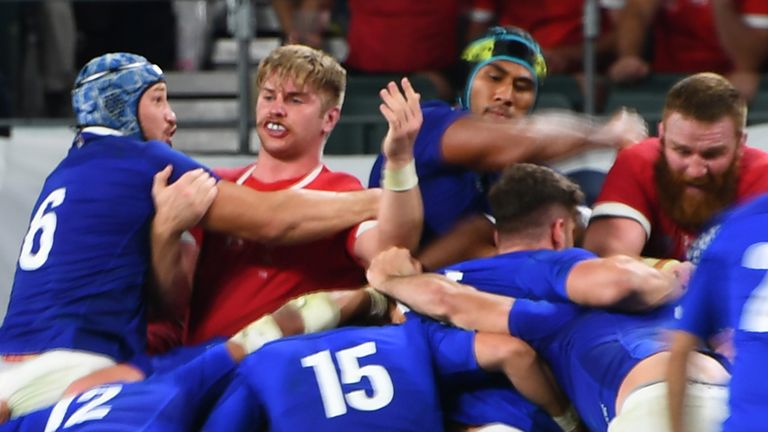 Vahaamahina was dismissed for an elbow on Wales' Aaron Wainwright