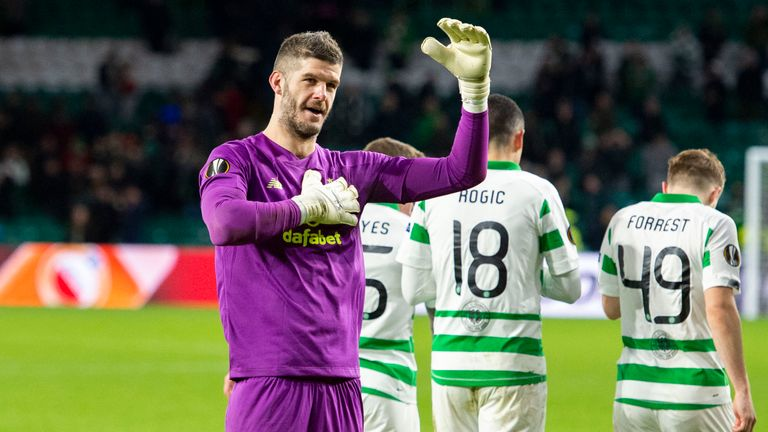 Fraser Forster played a key role in Celtic's win