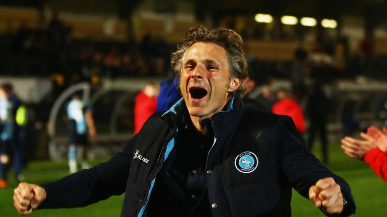 Ainsworth led Wycombe to promotion from League Two in the 2017-18 season
