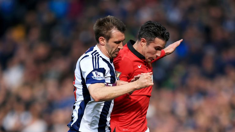McAuley says former Arsenal and Manchester United striker Robin van Persie was his toughest opponent