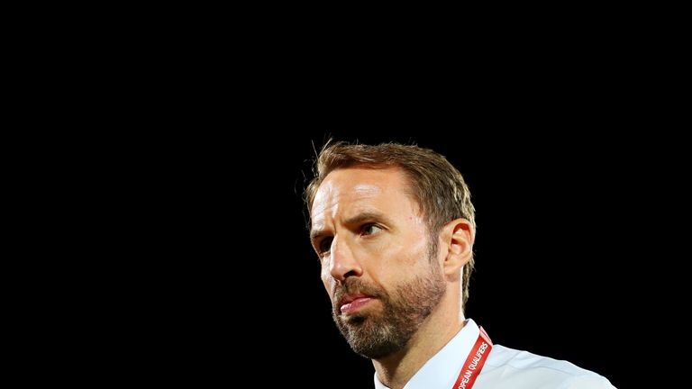Gareth Southgate, Manager of England prior to the UEFA Euro 2020 qualifier between Bulgaria and England on October 14, 2019 in Sofia, Bulgaria.
