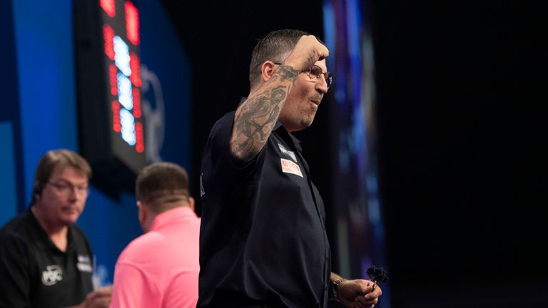 Gary Anderson proved too good for Keegan Brown at the Citywest Hotel