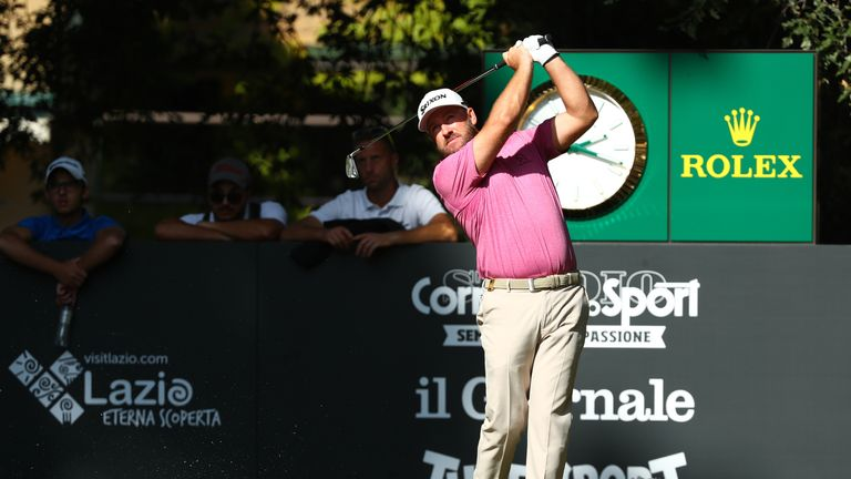 Graeme McDowell eagled 17 and moved into a share of third after a 66