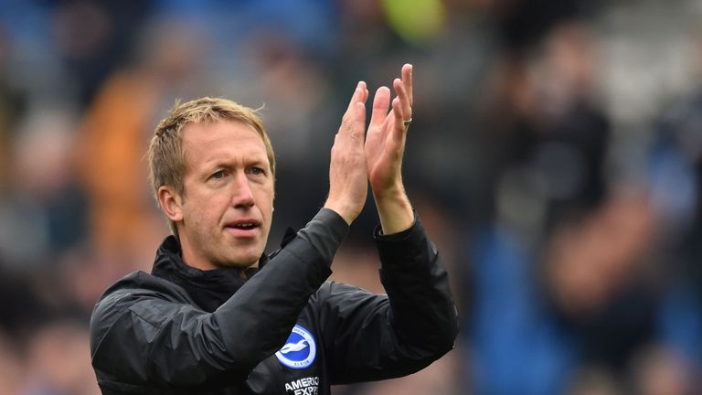 Potter has guided Brighton to 12th in the Premier League 13 games into the season