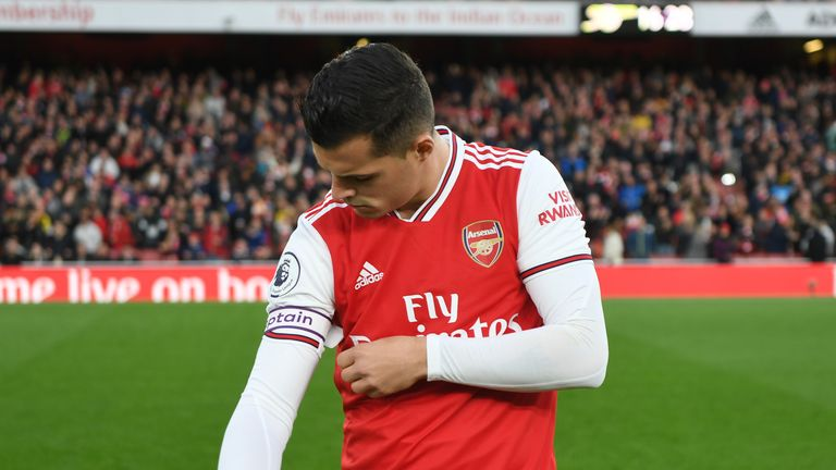 Granit Xhaka should be stripped of the Arsenal captaincy, according to Nigel Winterburn