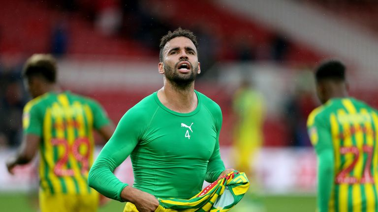 Hal Robson-Kanu after the Sky Bet Championship match at The Riverside Stadium