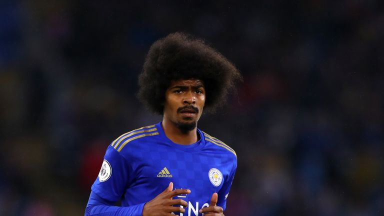 Hamza Choudhury came on as a second-half sub in Leicester's loss at Anfield