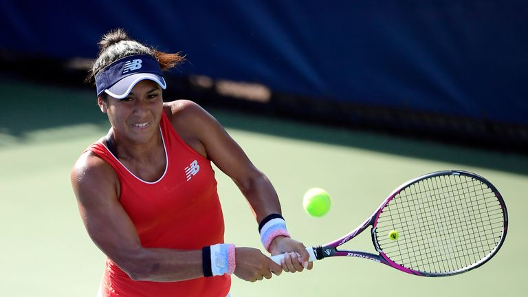 The British player showed her fortitude and fitness on court
