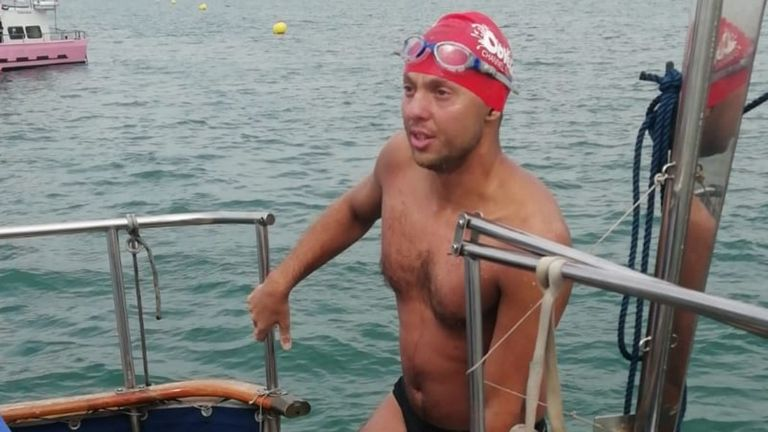 Hunter Charlton had next to no experience of endurance swimming when he began his Channel swim adventure