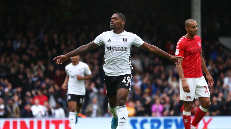 Ivan Cavaleiro of Fulham celebrates scoring his sides first goal during the Sky Bet Championship match between Fulham and Charlton Athletic at Craven Cottage