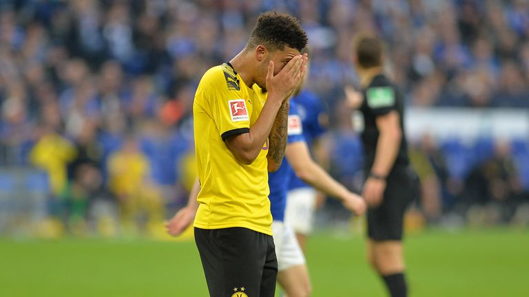 Jadon Sancho played his first league game since he was left out by manager Lucien Favre for disciplinary reasons