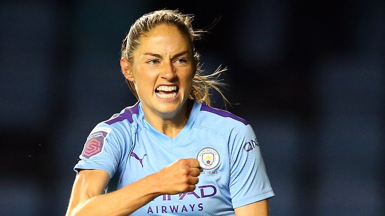 Janine Beckie gave Manchester City the lead against Atletico Madrid