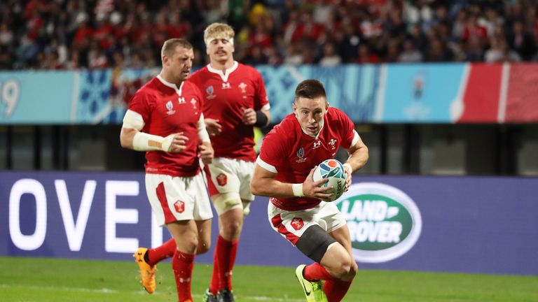 Only Shane Williams has scored more tries than Josh Adams for Wales in World Cup rugby