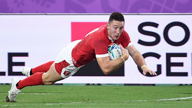 Adams' second gave Wales the lead in the first half as they turned things around