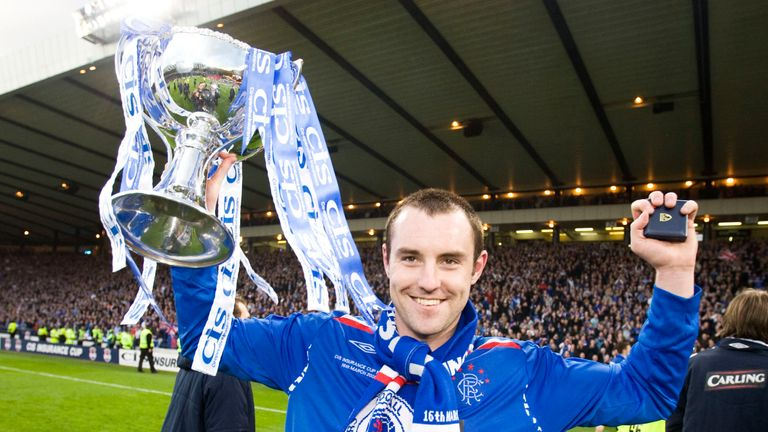 Kris Boyd won the League Cup twice during his time at Rangers