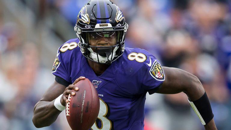 Lamar Jackson leads the league in rushing yards among quarterbacks