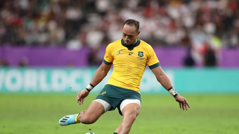 Christian Lealiifano notched the first points of the Test off the tee