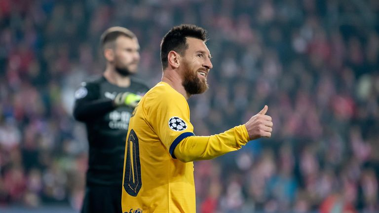 Lionel Messi scored for Barcelona as he reached another Champions League milestone