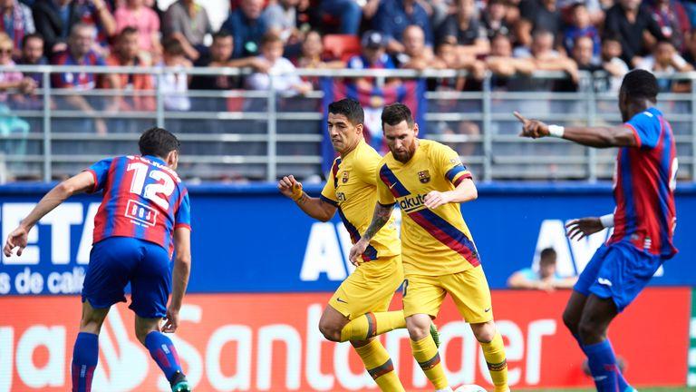 Lionel Messi and Luis Suarez were back leading the Barcelona attack