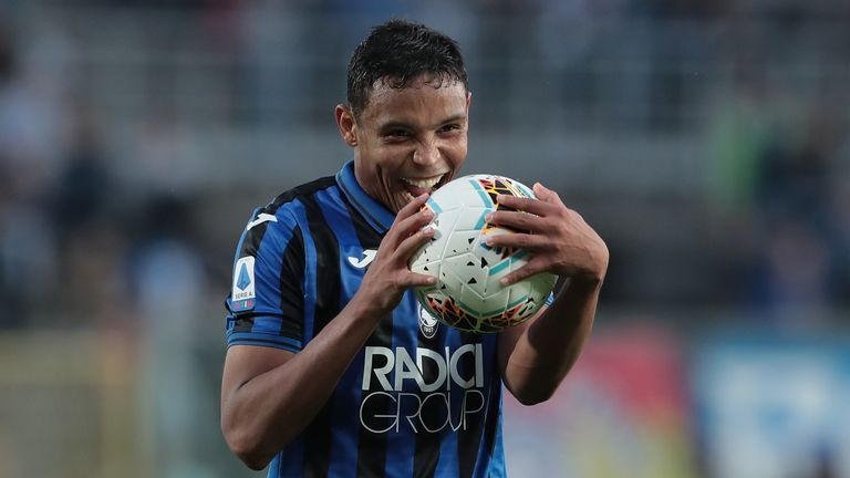 Luis Muriel took home the match ball for Atalanta