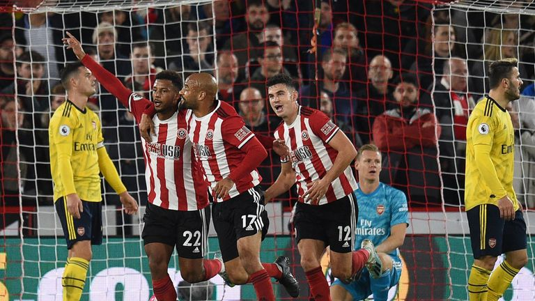 Lys Mousset scored Sheffield United's winner against Arsenal in October