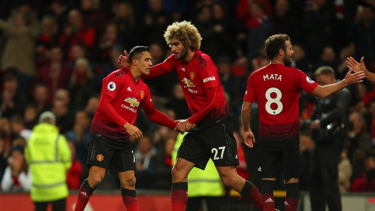 Jose Mourinho brought on Alexis Sanchez, Marouane Fellaini and Juan Mata at half-time as Manchester United beat Newcastle 3-2 in October 2018