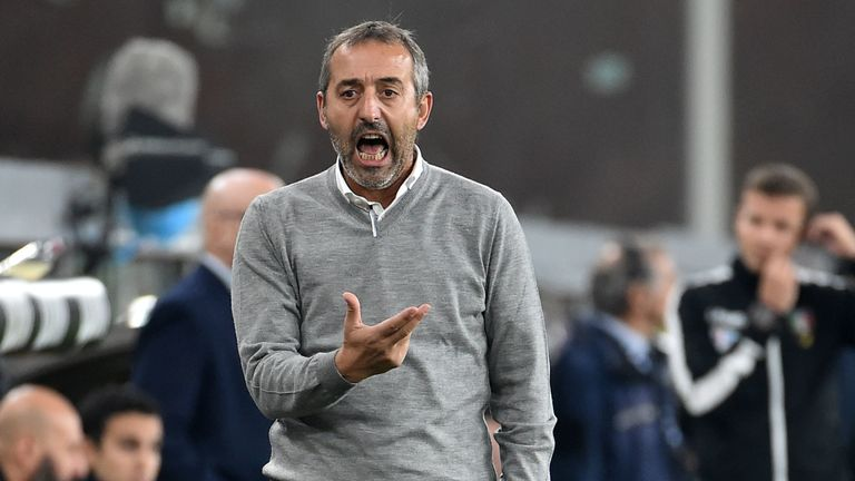 Marco Giampaolo was only in charge for seven matches before AC Milan fired him