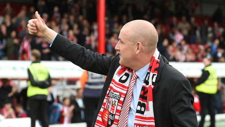 Mark Warburton led Brentford to the Championship in 2014