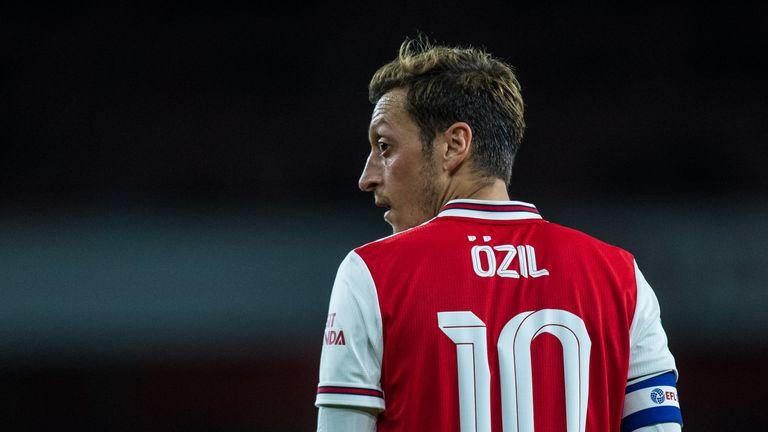 Mesut Ozil has only played against Watford and Nottingham Forest this season