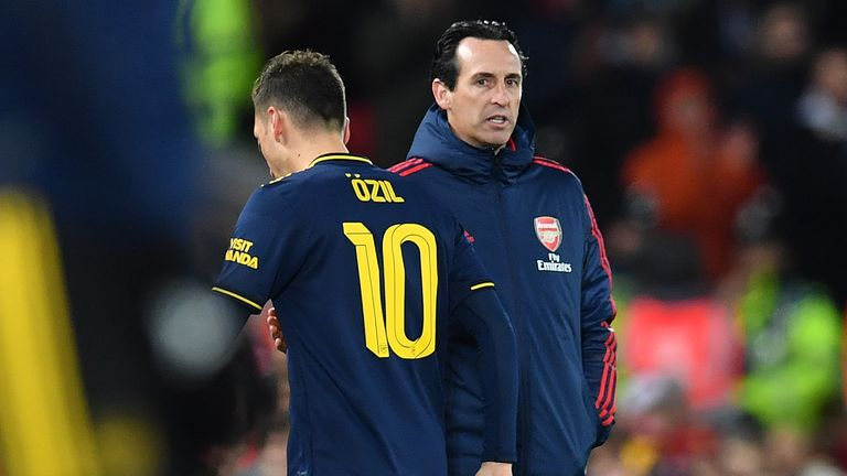 Ozil has only started one Premier League this season under Unai Emery