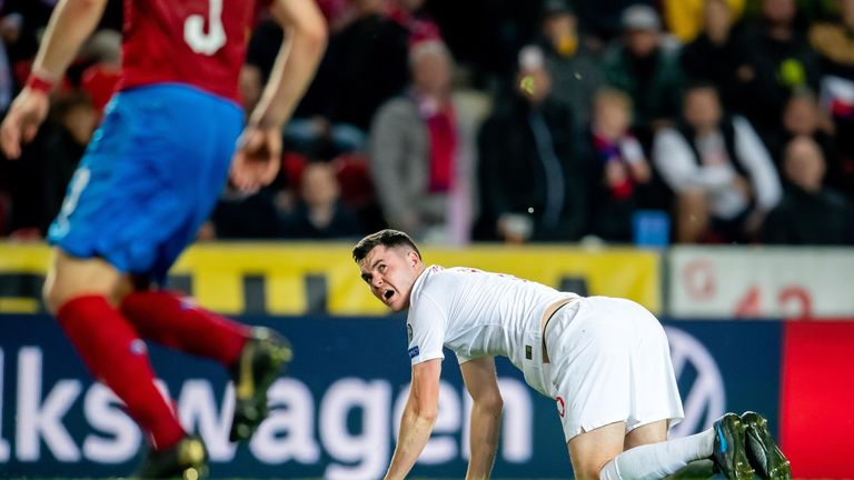 Michael Keane endured a tough night