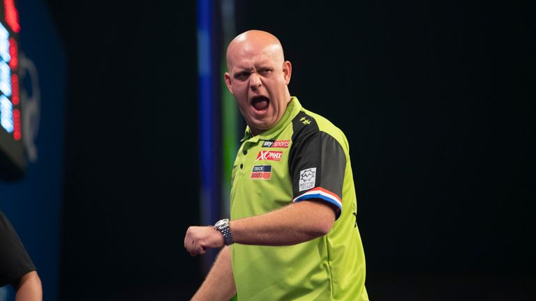 Michael van Gerwen is bidding to win his fourth major title in the space of six weeks