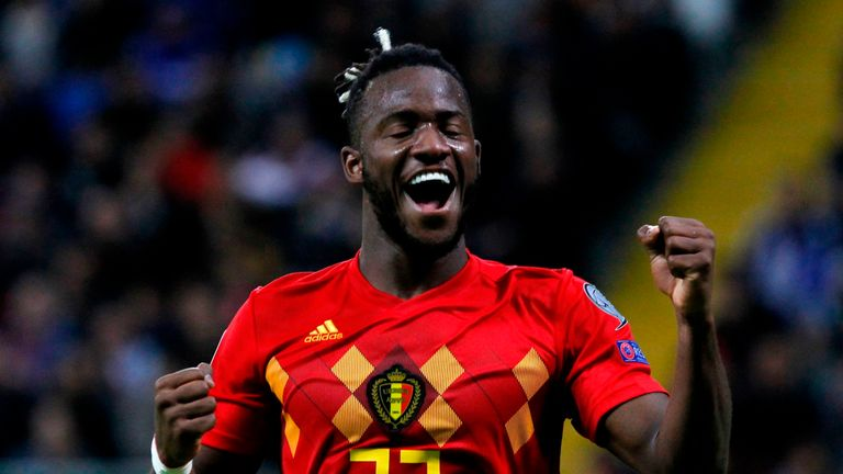 Michy Batshuayi scored in Belgium's routine win over Kazakhstan