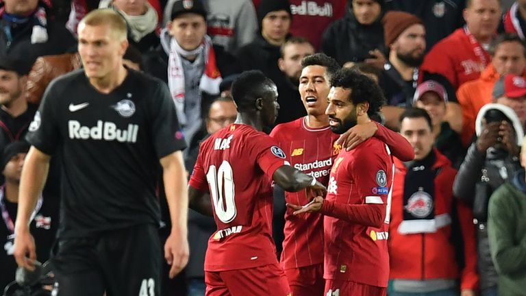 Sadio Mane, Roberto Firmino and Mohamed Salah are all on Ballon d'Or shortlist