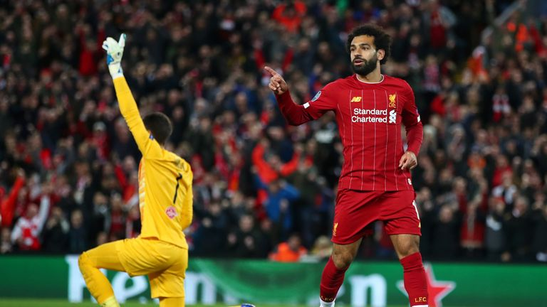 Mohamed Salah made it 4-3 with 20 minutes remaining