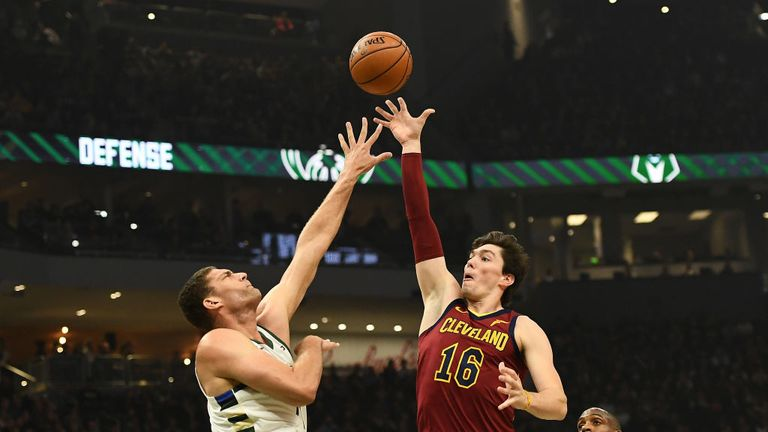 Milwaukee Bucks against Cleveland Cavaliers in the NBA