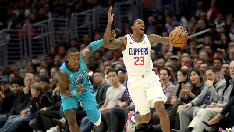 LA Clippers against Charlotte Hornets in the NBA
