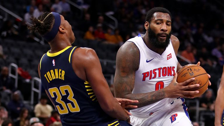 Indiana Pacers against Detroit Pistons in the NBA