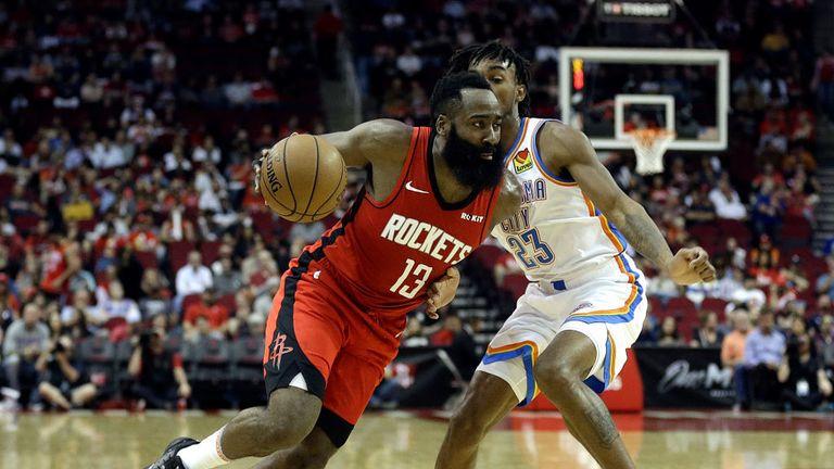 Houston Rockets against Oklahoma City Thunder in the NBA